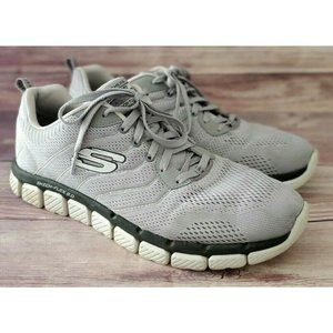 Skechers Mens Flex 2.0 Milwee Gray Sneakers 10